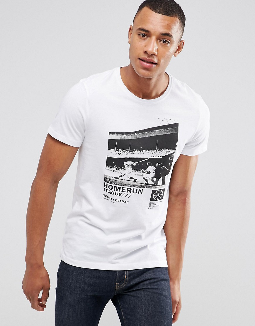 Casual Friday T-Shirt With Photo Print - White