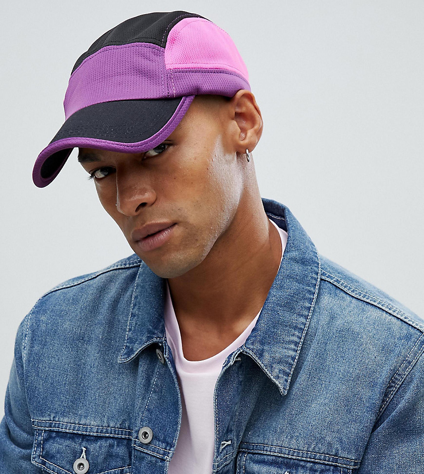 Reclaimed Vintage inspired 5 panel hat in purple - Purple