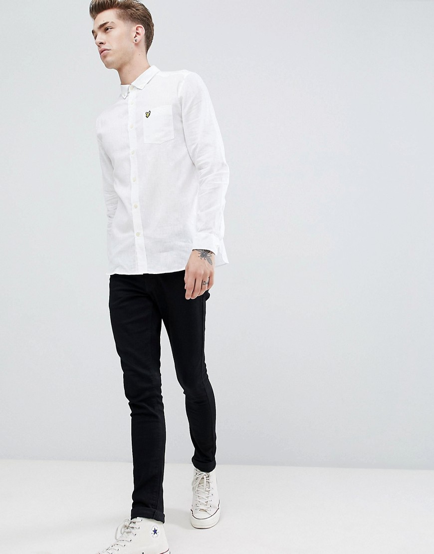 Lyle & Scott cotton linen shirt - White