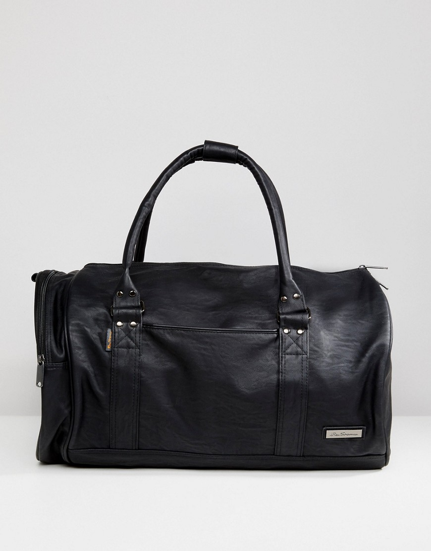 Ben Sherman Barrel Bag In Black - Black