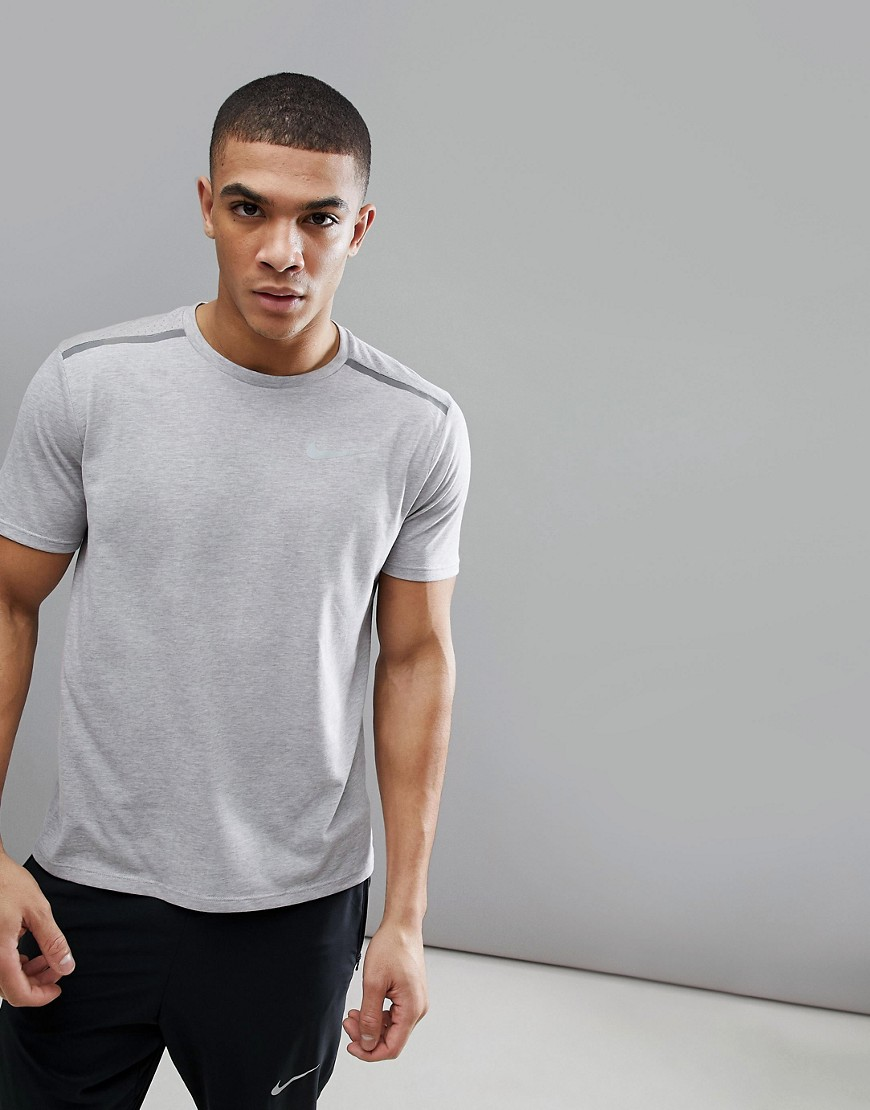 Nike Running Breathe Tailwind T-Shirt In Grey 892813-027 - Grey