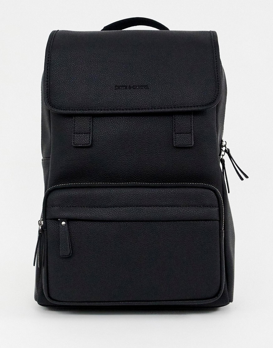 Smith & Canova leather backpack in black - Black