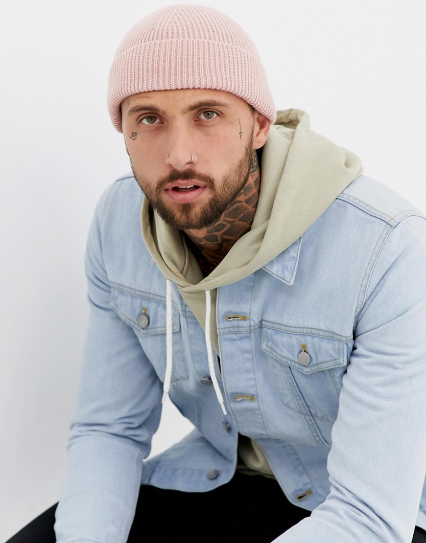 7X fishermans beanie in pink - Pink