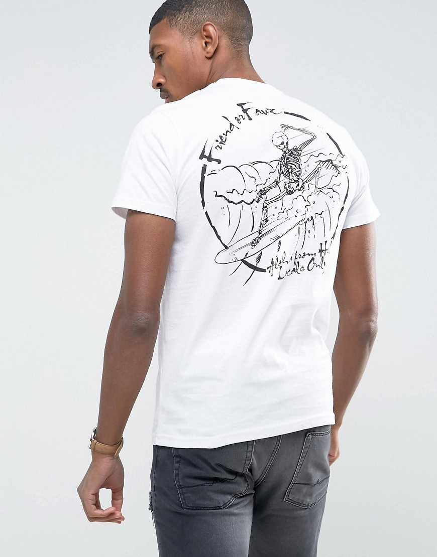 Friend or Faux Denness Back Print T-Shirt - White