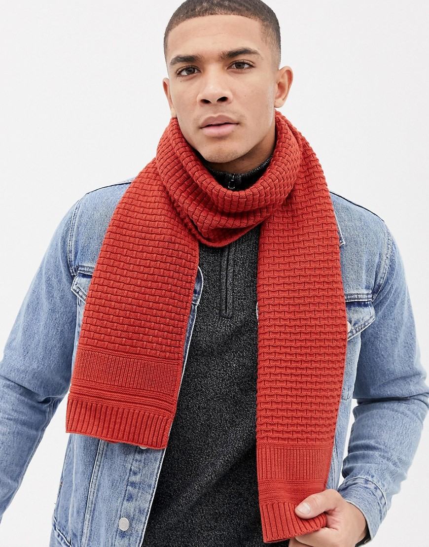 Ted Baker Auscarf scarf in textured knit - Orange