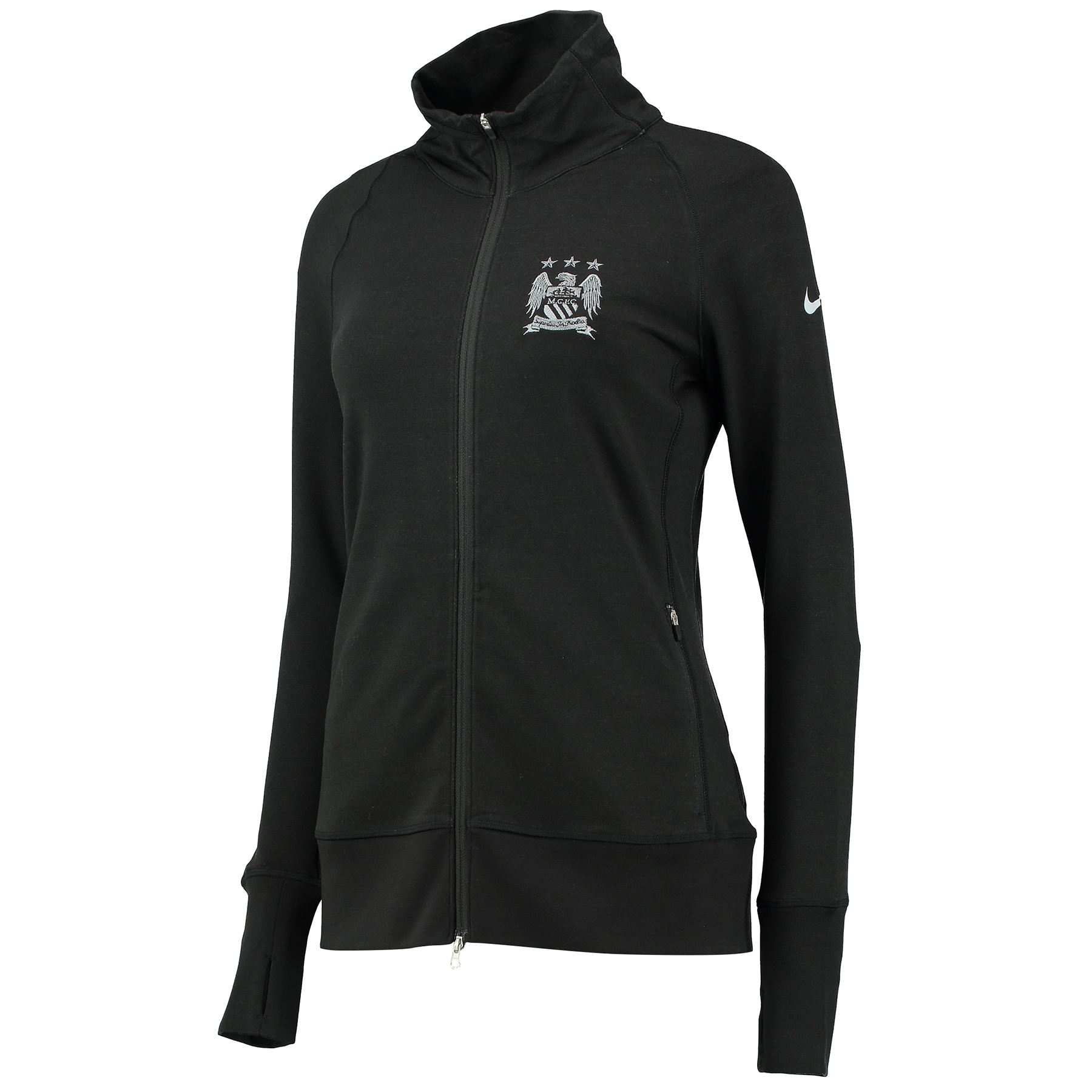 Manchester City Bunker Full Zip Jacket - Womens Black