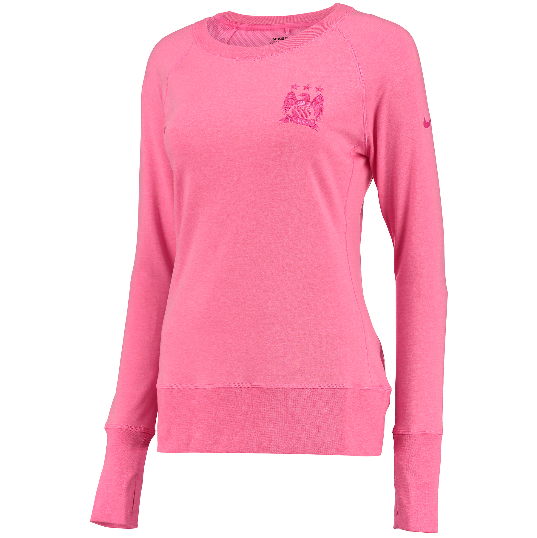 Manchester City Bunker Crew Neck Top - Womens Pink