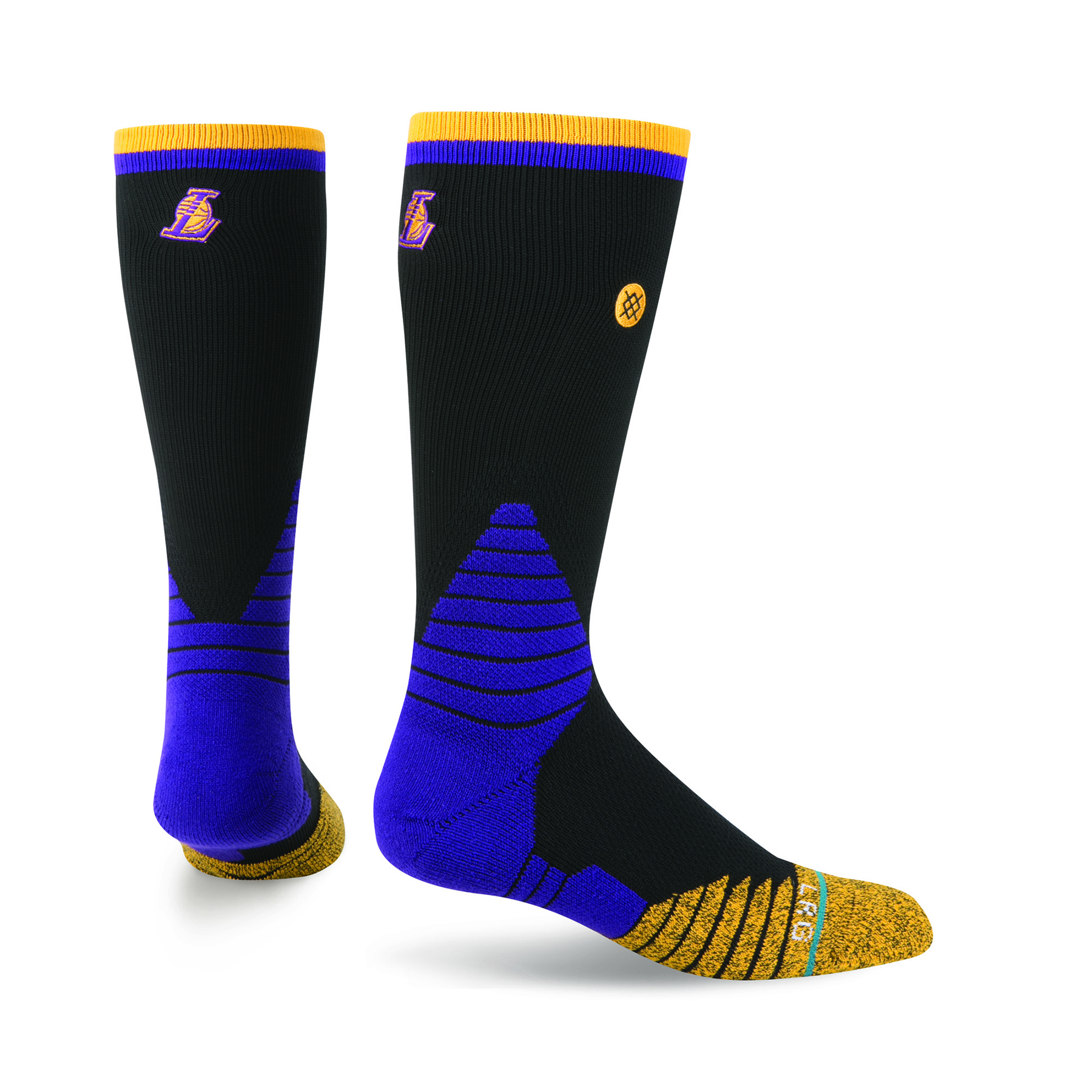 Los Angeles Lakers Stance On-Court Road Crew Socks