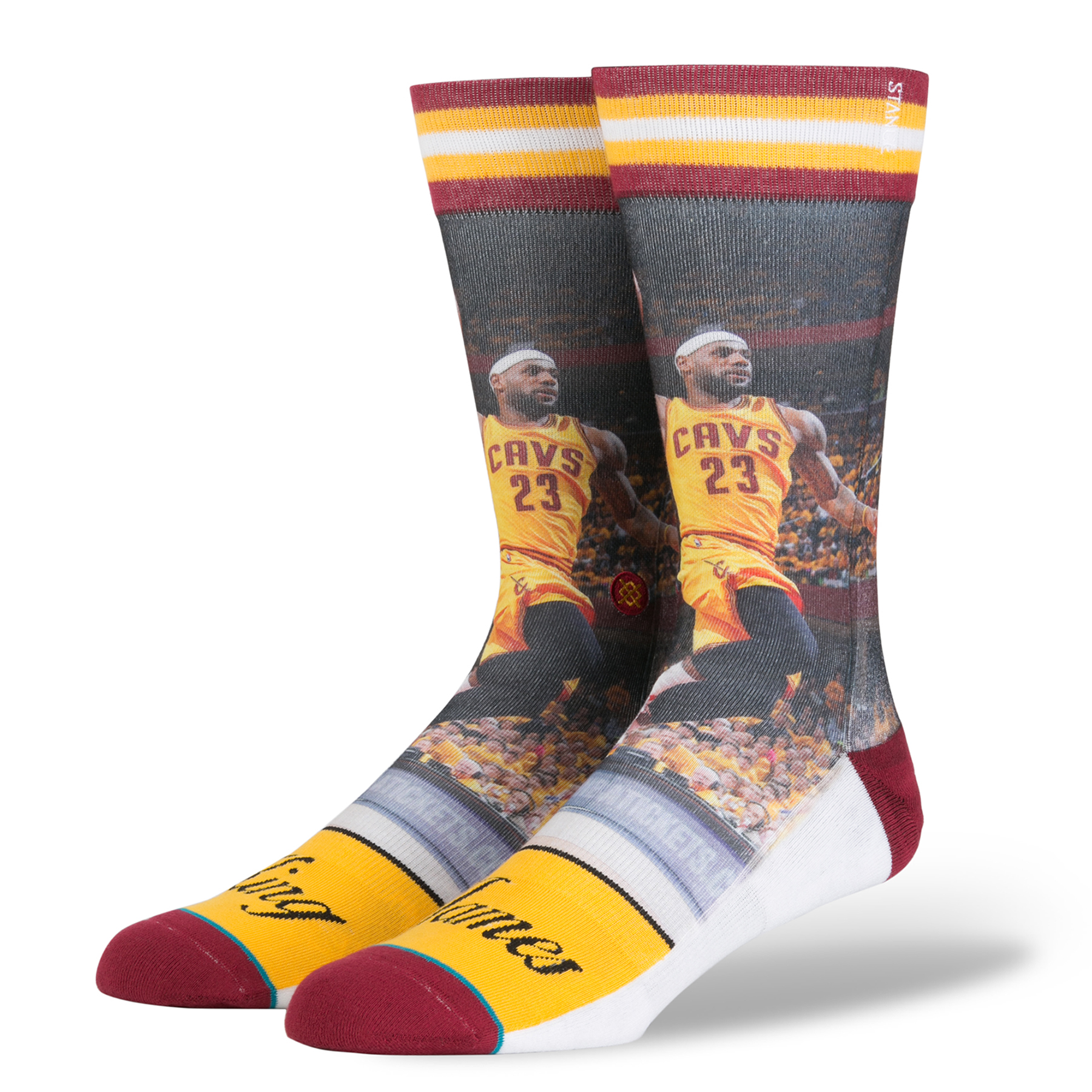 Cleveland Cavaliers Stance Player Crew Socks - Lebron James