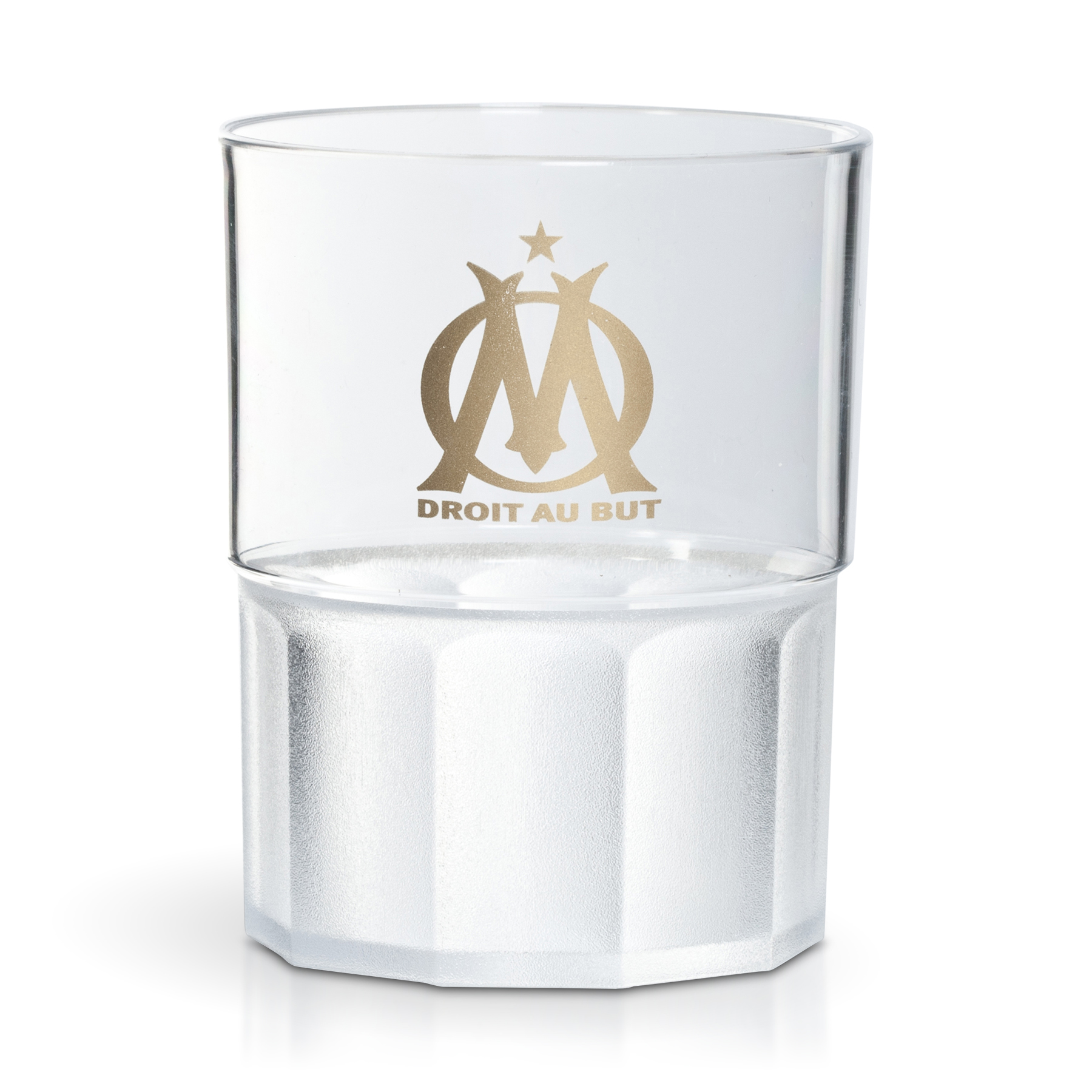 Olympique de Marseille Community Transparent 20cl Unbreakable Glass Pack of 6