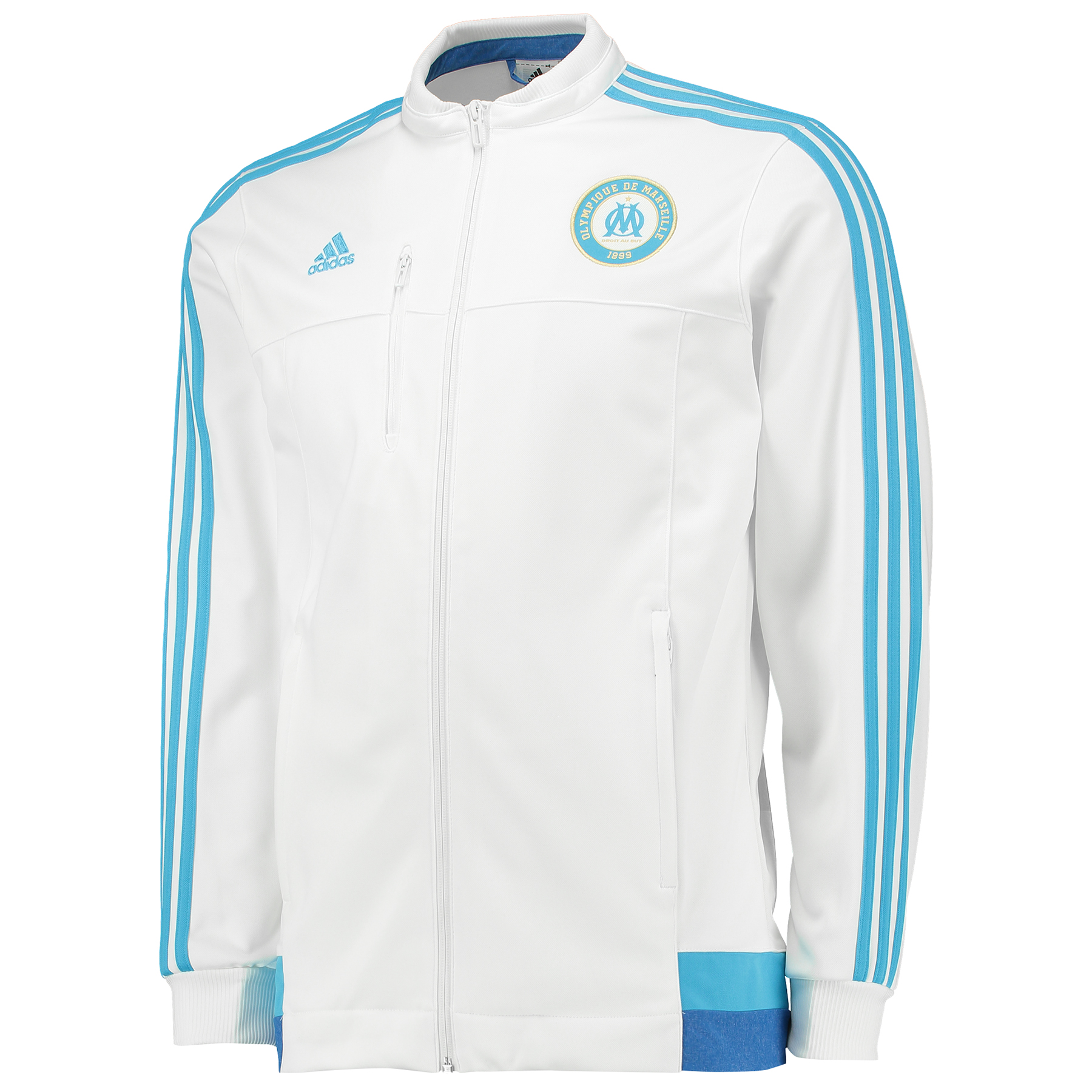 Olympique de Marseille Anthem Jacket - Core White/Om Blue/Blue