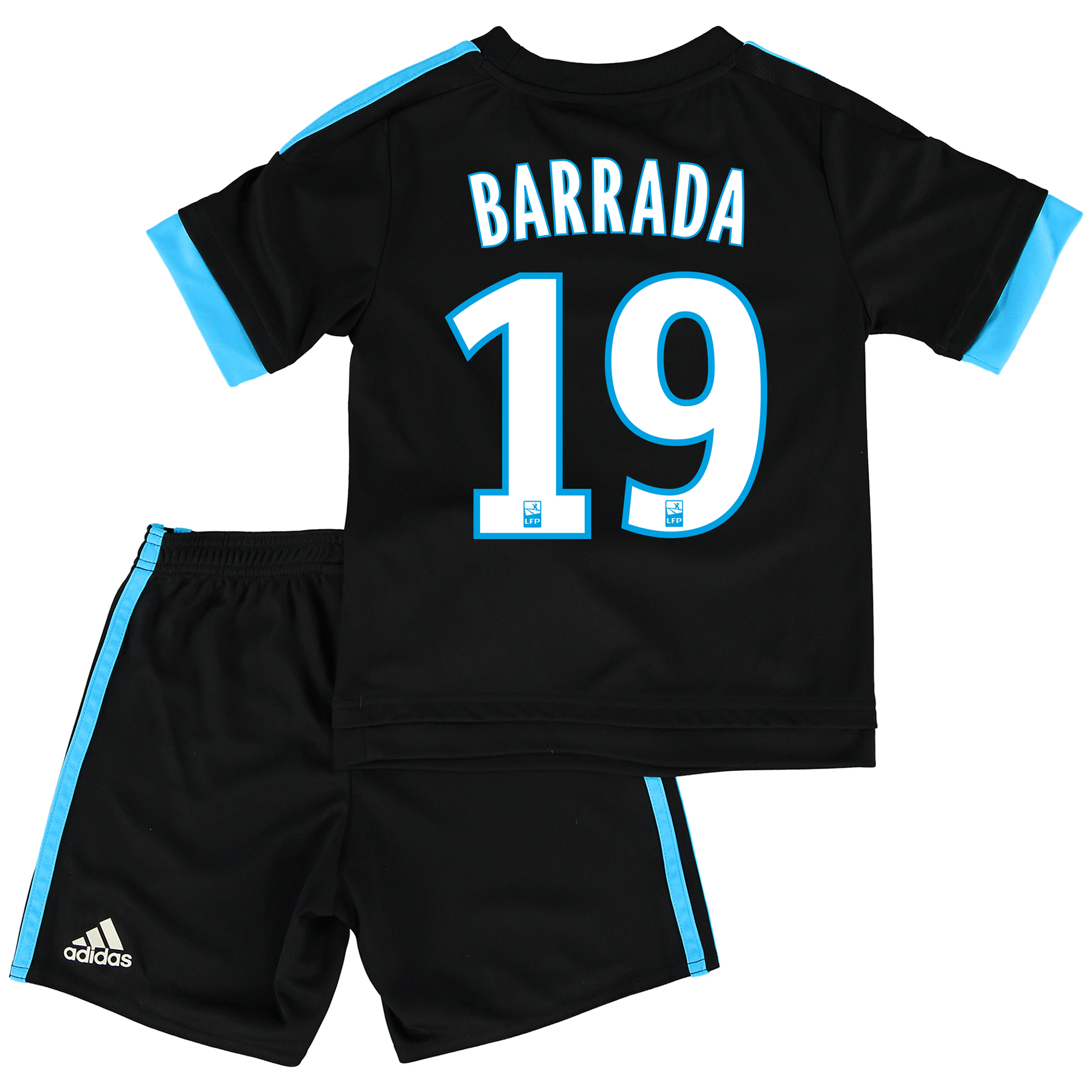 Olympique de Marseille Away Kit 2015/16 - Infants with Barrada 19 printing