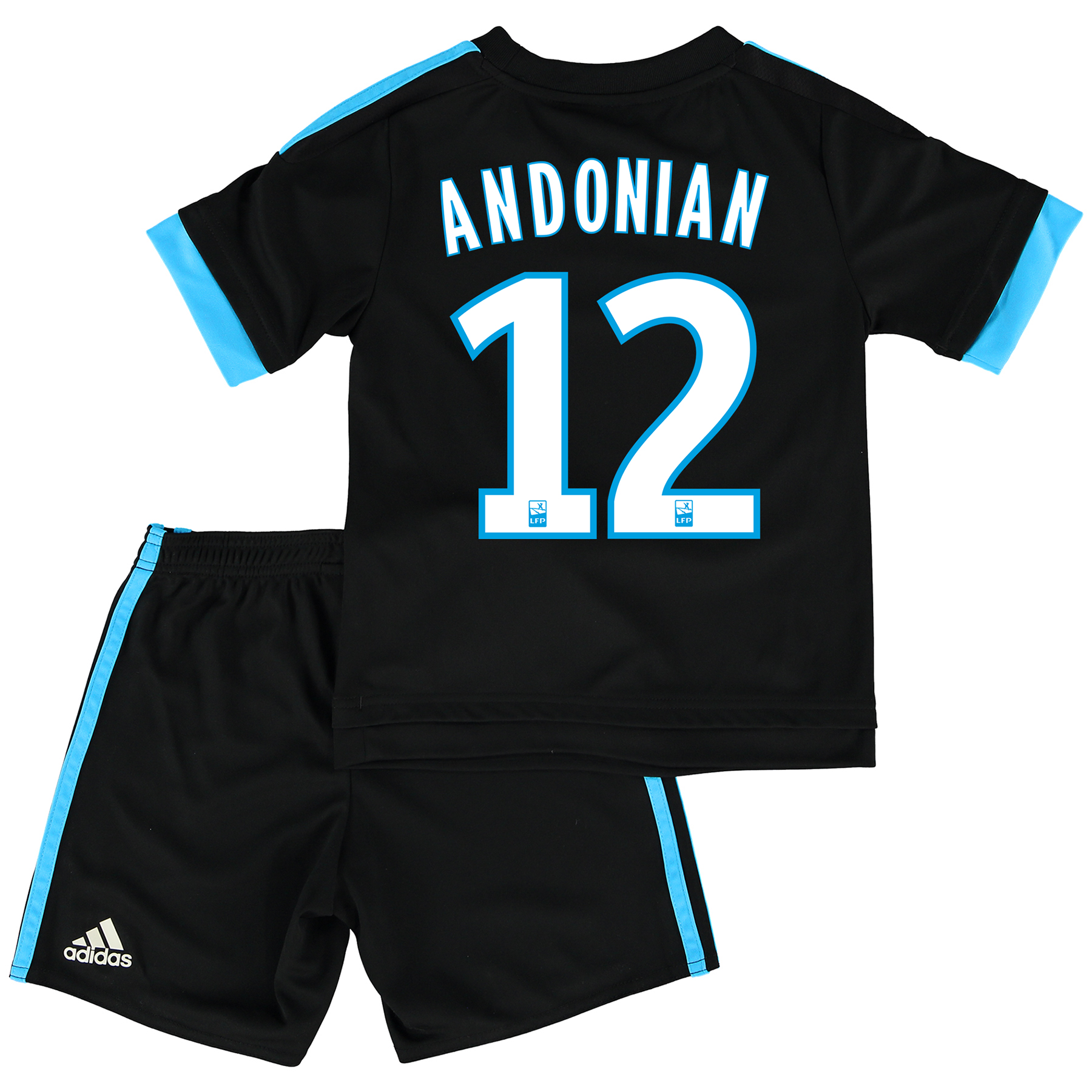 Olympique de Marseille Away Kit 2015/16 - Infants with Andonian 12 printing