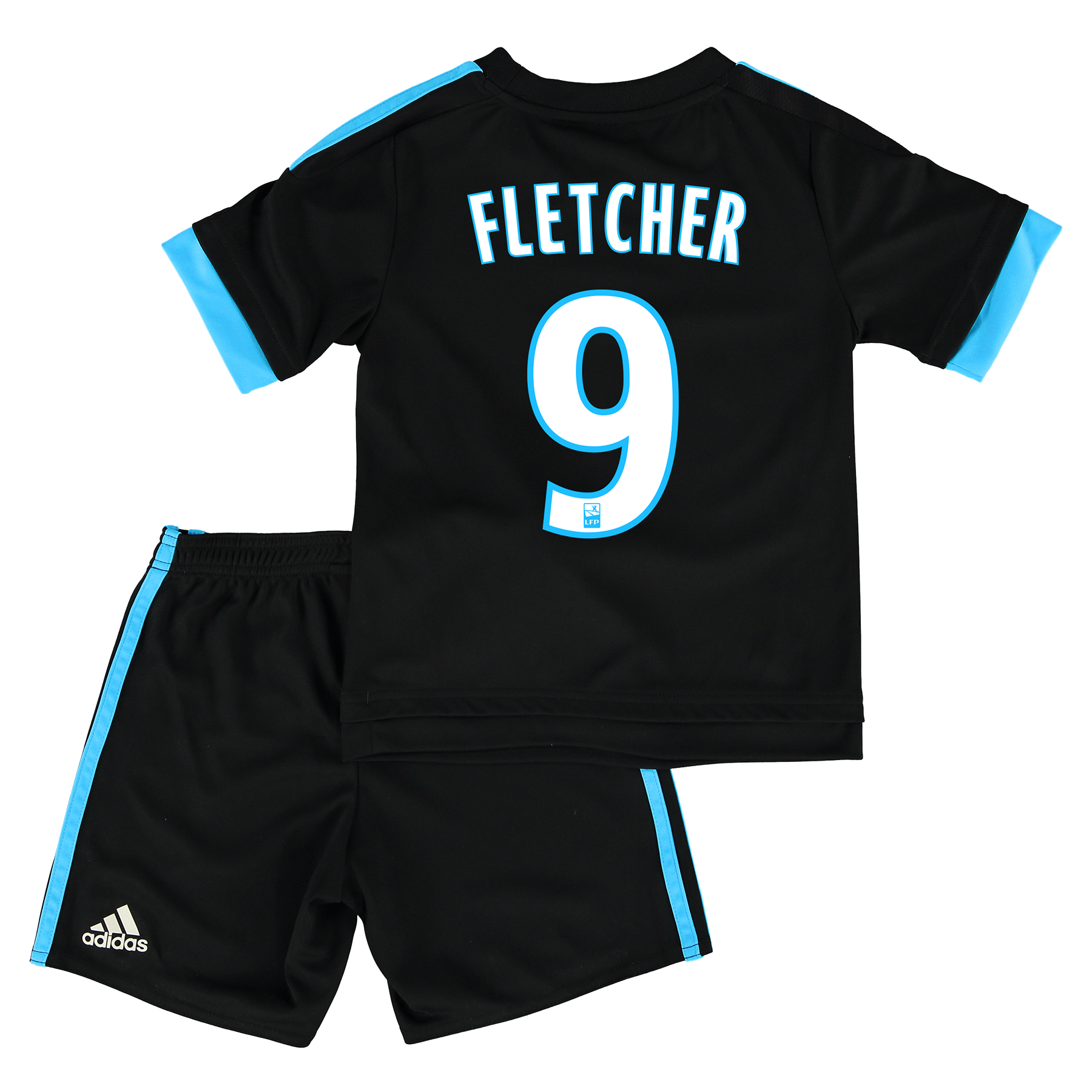 Olympique de Marseille Away Kit 2015/16 - Infants with Fletcher 9 printing