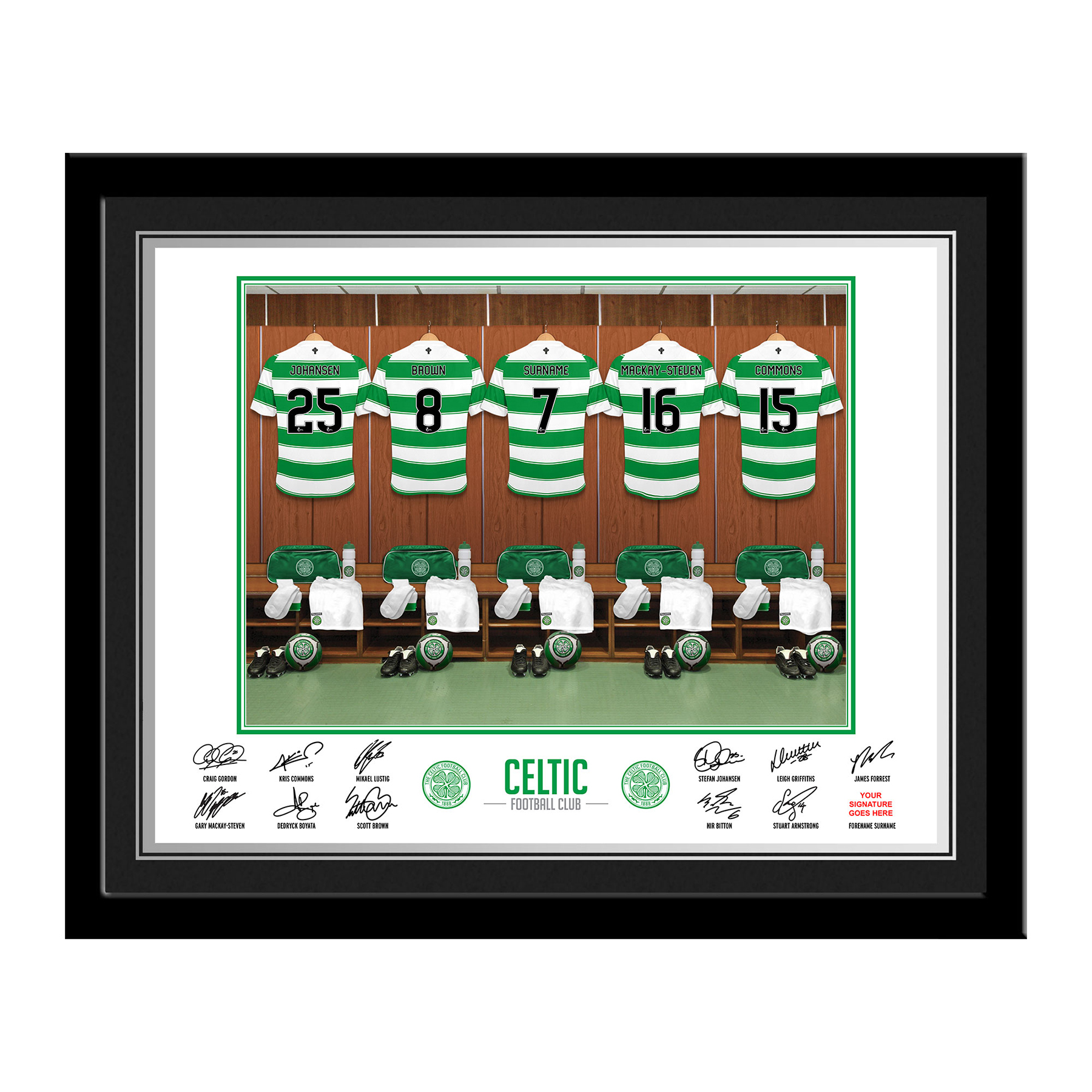 Celtic Personalised Dressing Room Photo Framed