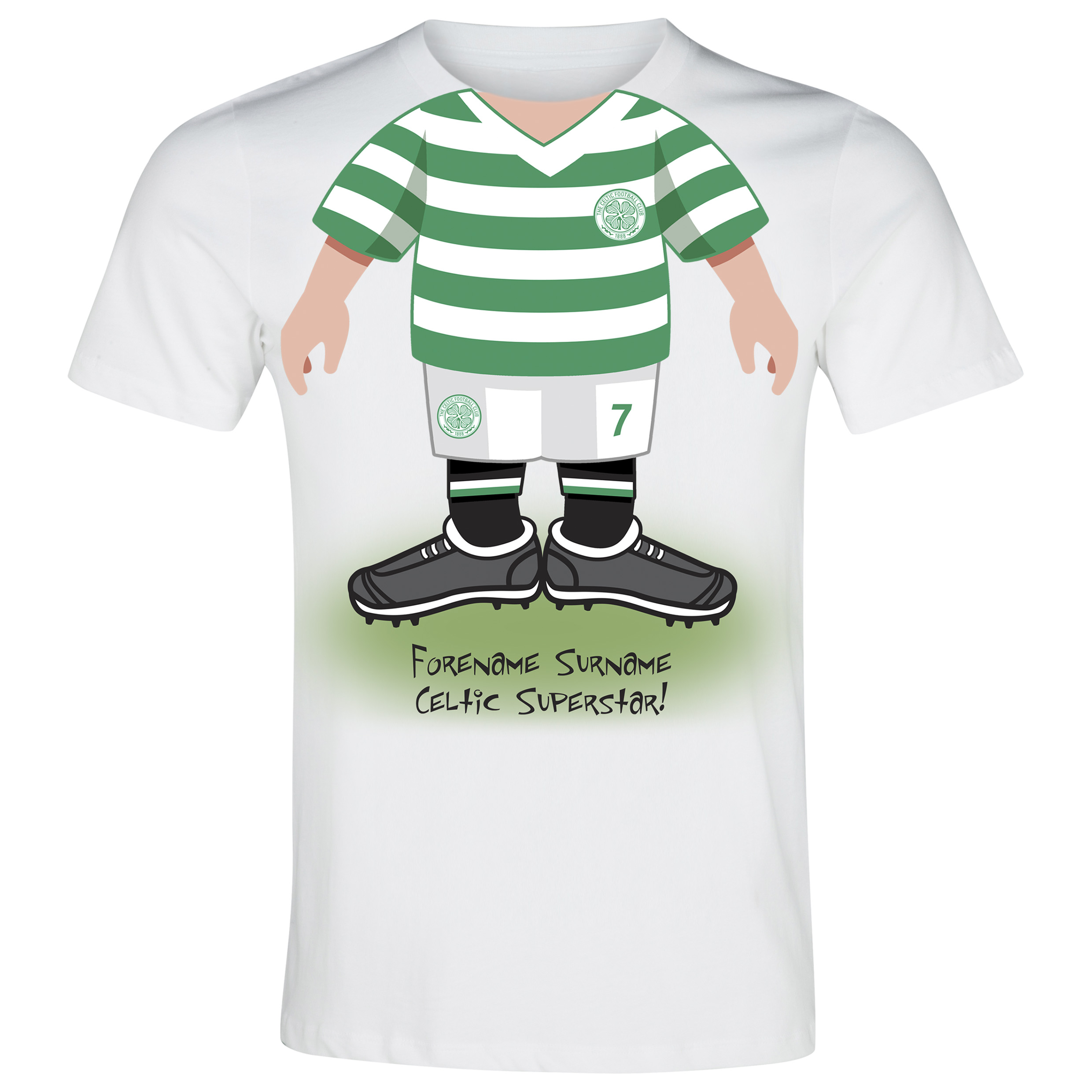 Celtic Personalised Use Your Head T-Shirt - Junior