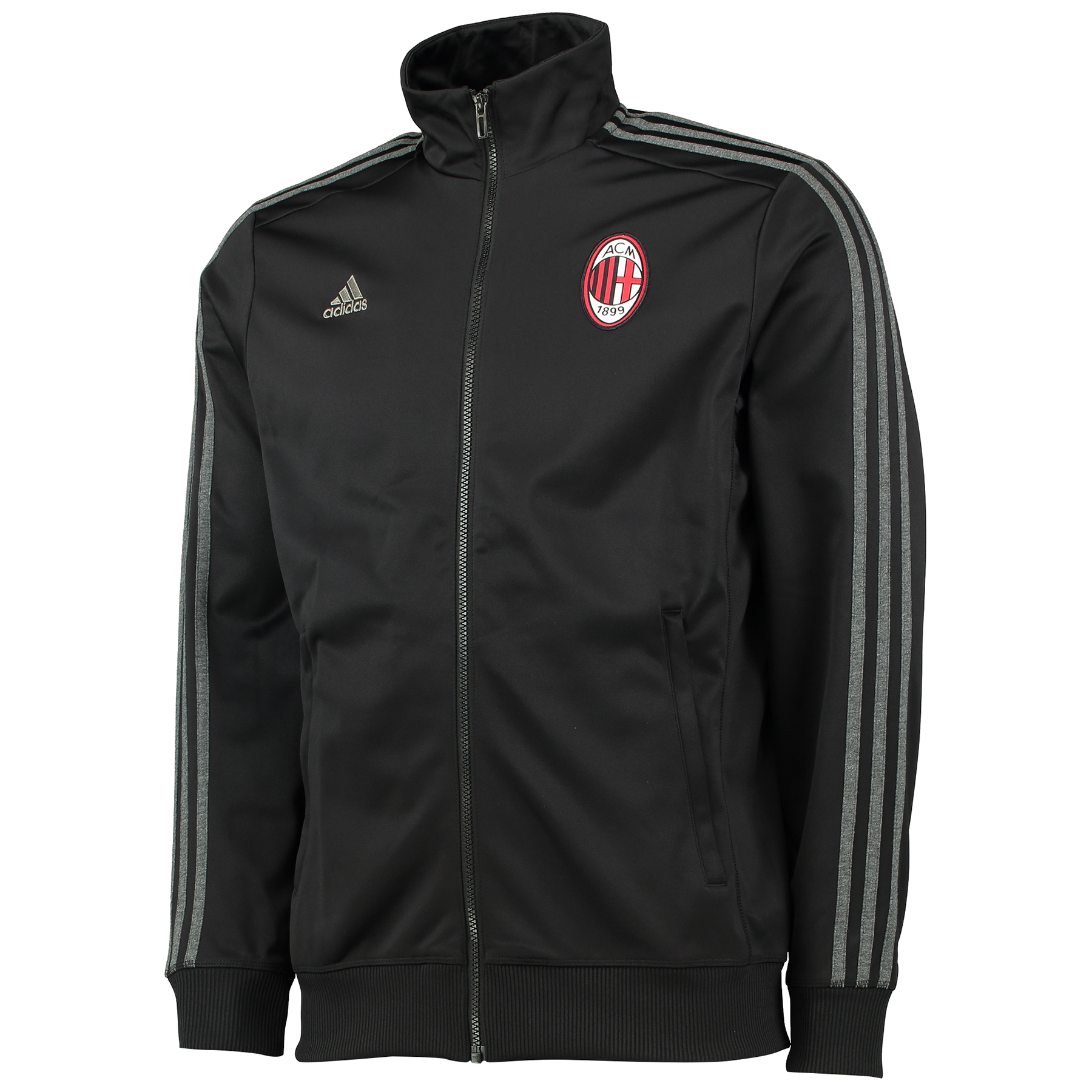 AC Milan 3 Stripe Track Jacket Black