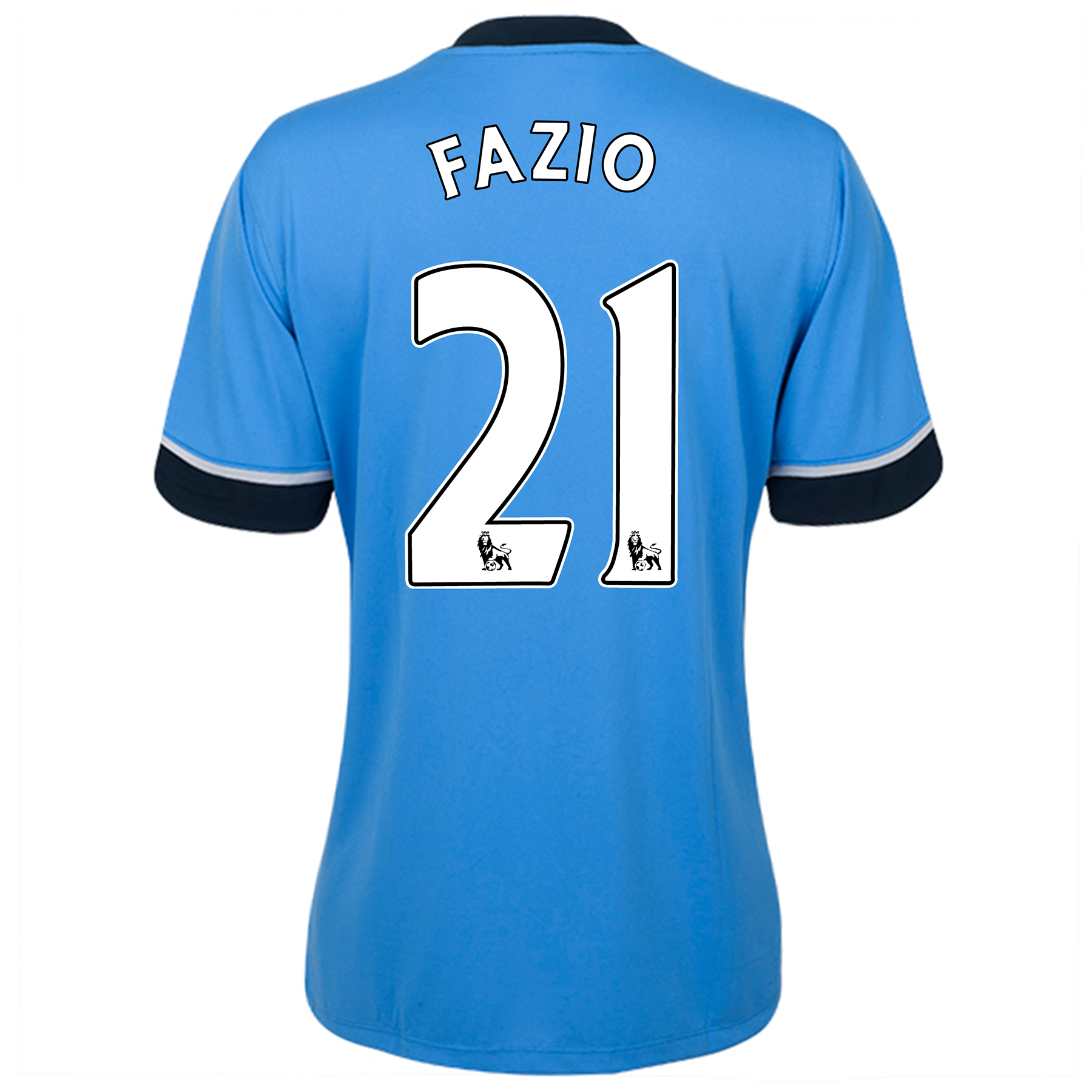 Tottenham Hotspur Away Shirt 2015/16 - Womens Sky Blue with Fazio 21 printing