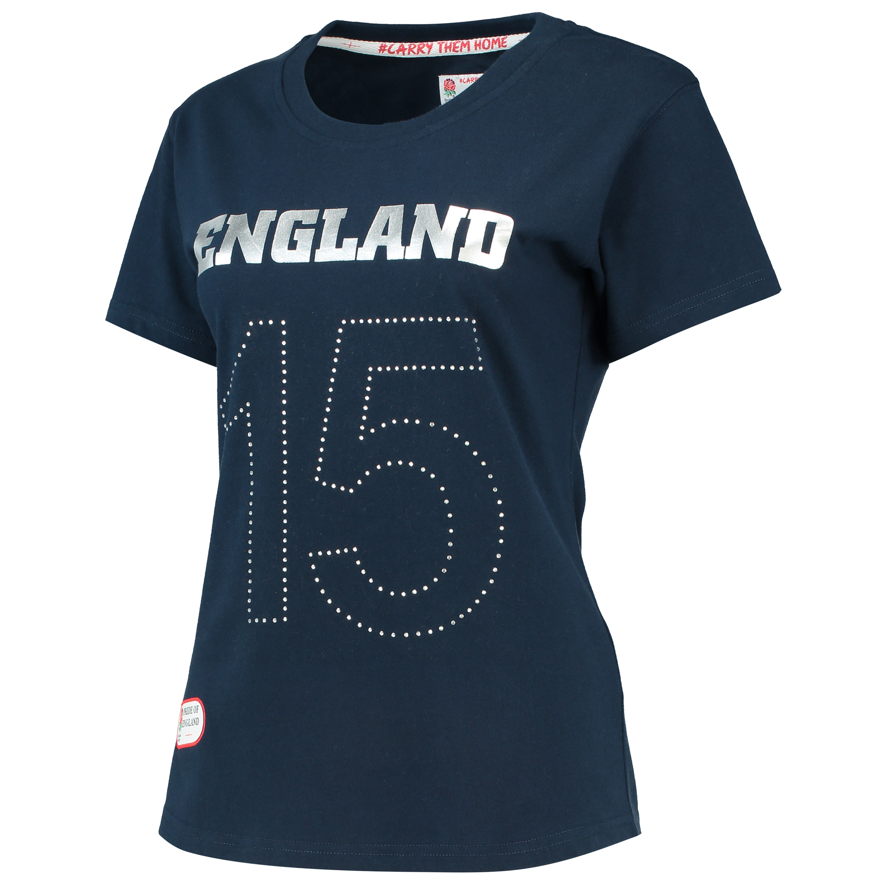 England Classics Collection England 15 T-Shirt - Navy - Womens