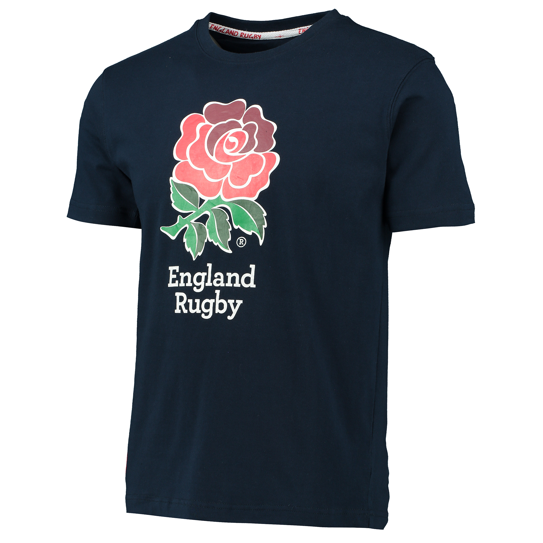 England Classics Collection Rose Print T-Shirt - Navy