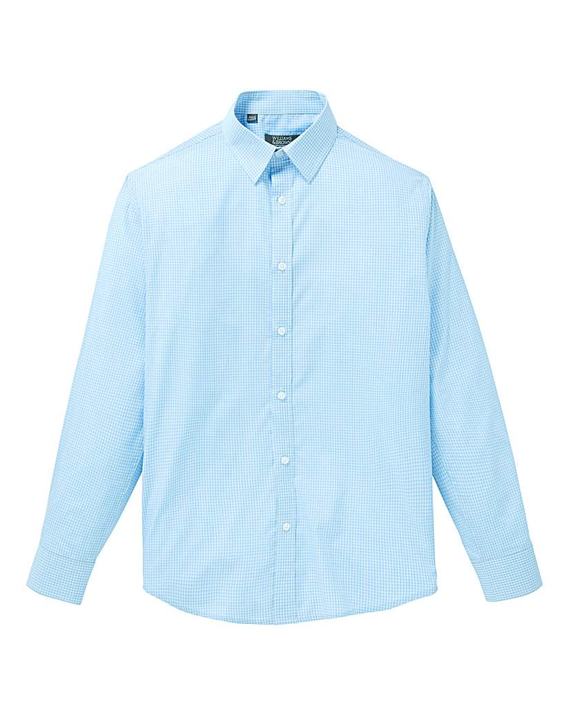 W&B London Blue Check L/S Shirt L