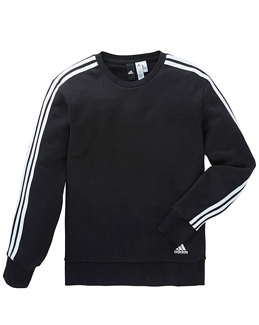 Adidas 3 Stripe Crew Neck Sweat
