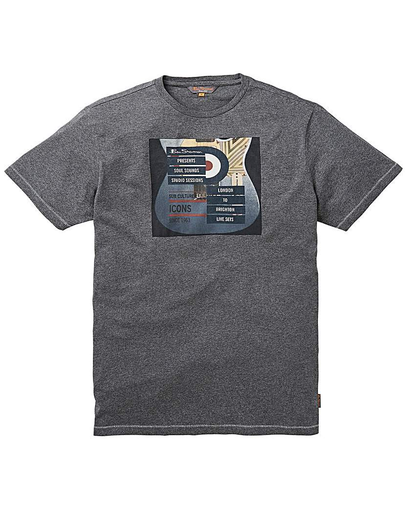 Ben Sherman Guitar Print T-Shirt Long