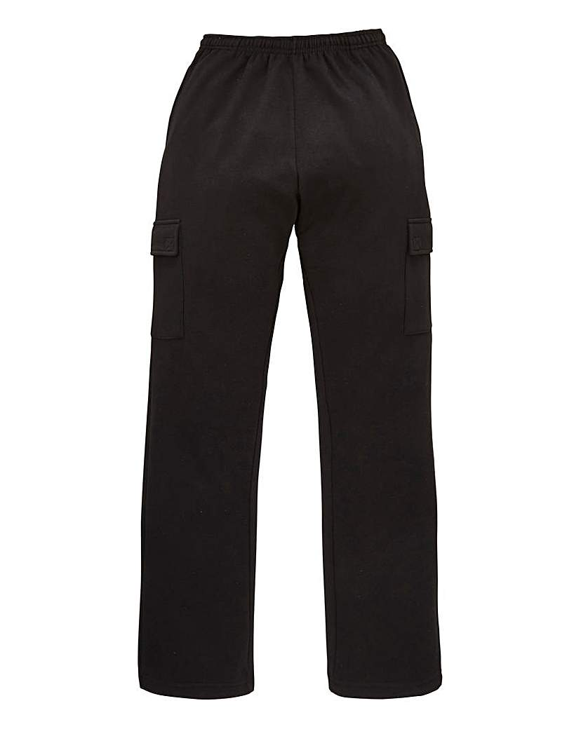 Capsule Black Cargo Trousers 27 inch