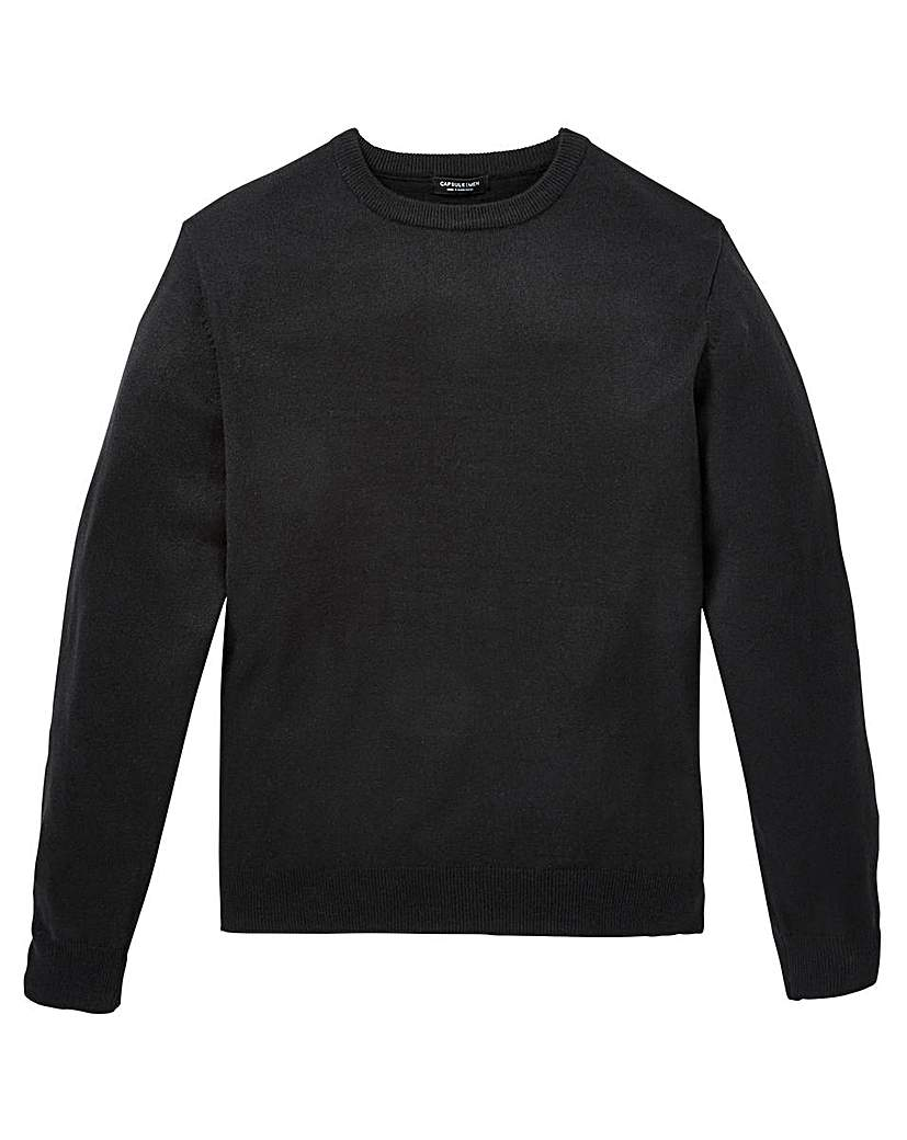 Capsule Black Crew Neck Jumper