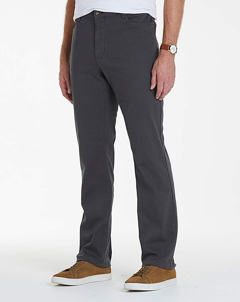 UNION BLUES Charcoal Gaberdine Jean 27in