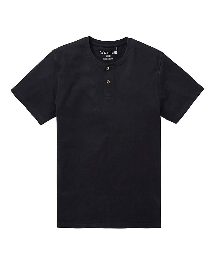 Capsule Black Grandad T-Shirt Long