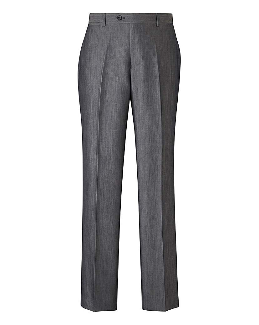W&B London Charcoal Slim Trousers 31in