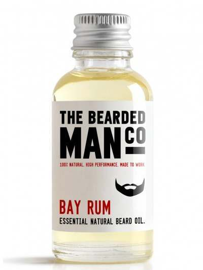 The Bearded Man Co. 30ml Bay Rum Essential Natural Beard Oil