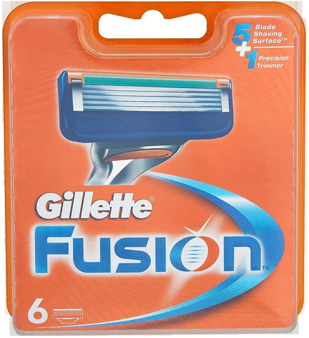Gillette 75035001 Fusion Manual Pack of 6 Razor Blades