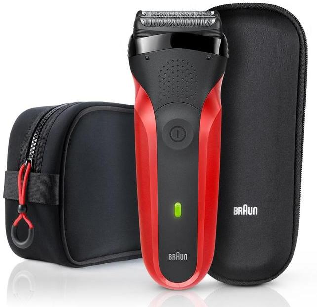 Braun 300TS Series 3 Red Toiletry Bag Gift Set