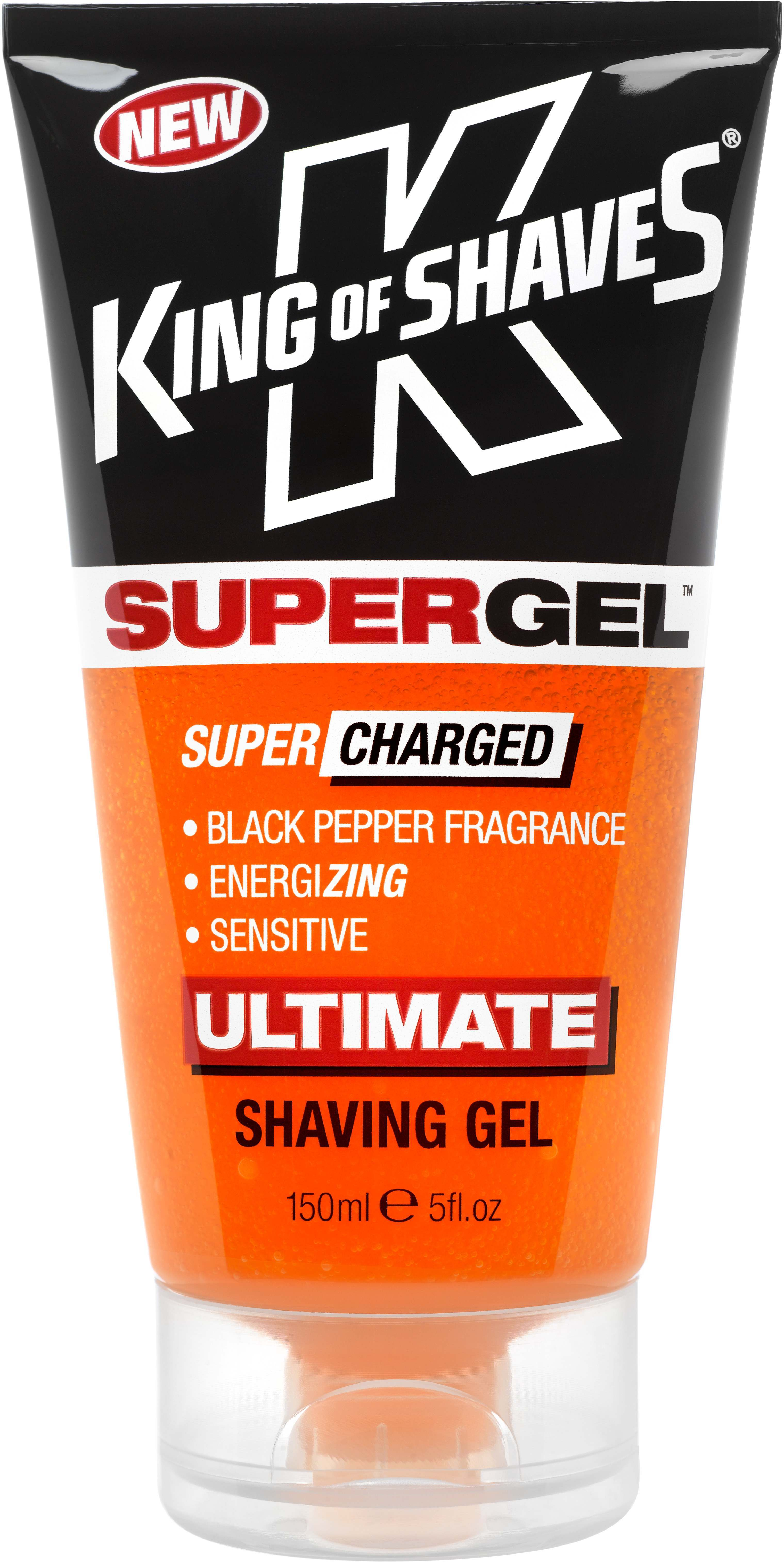 King of Shaves 2KS-120187 SuperGel Black Pepper Ultimate Shaving Gel