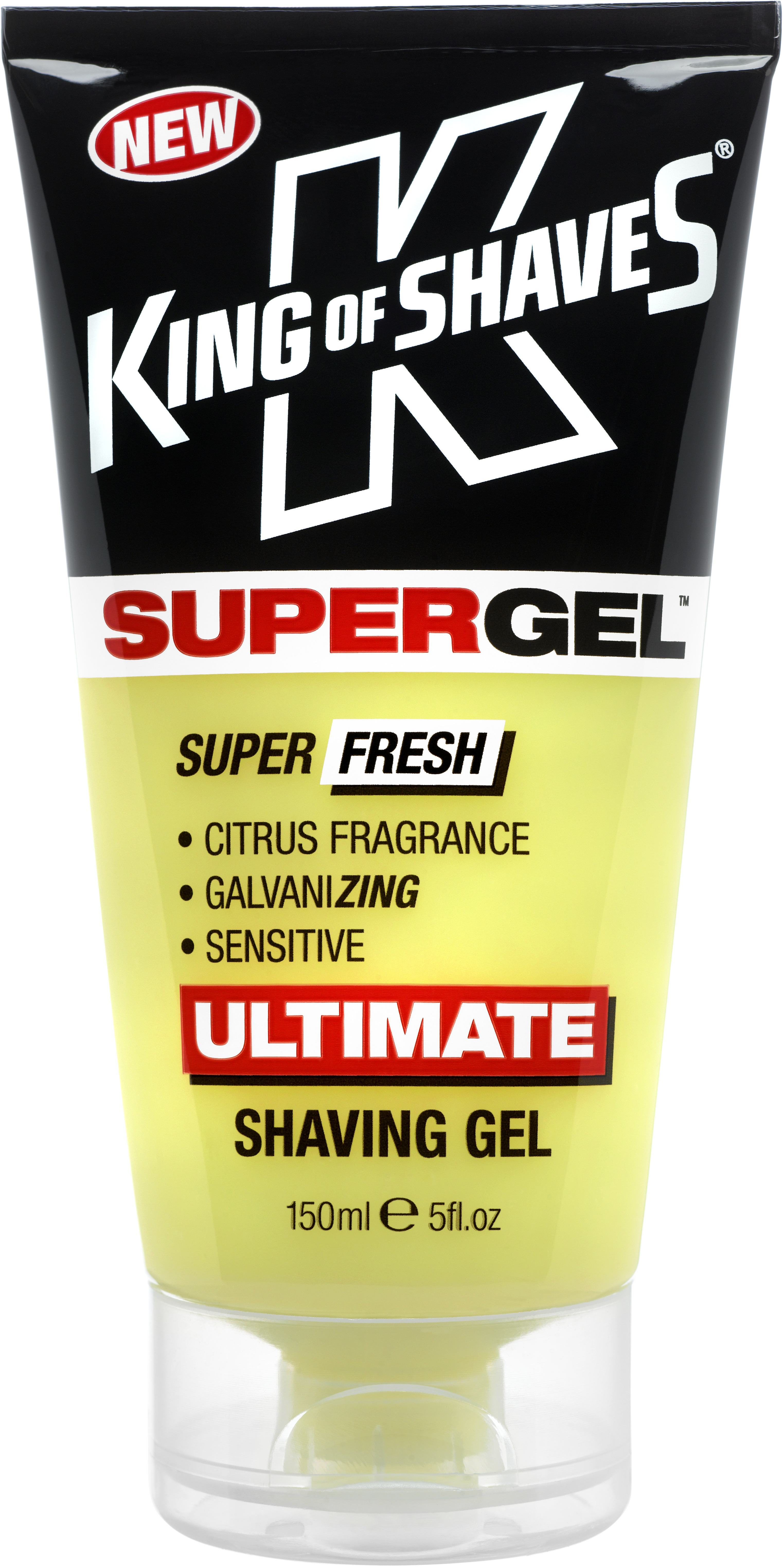King of Shaves 2KS-120163 SuperGel Citrus Ulitmate Shaving Gel