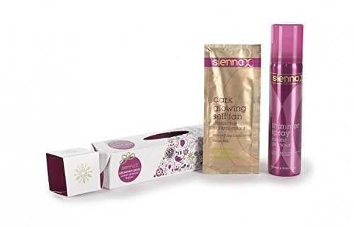 Sienna X Silver Shimmer Spray Instant Glamour & Glow Christmas Cracker