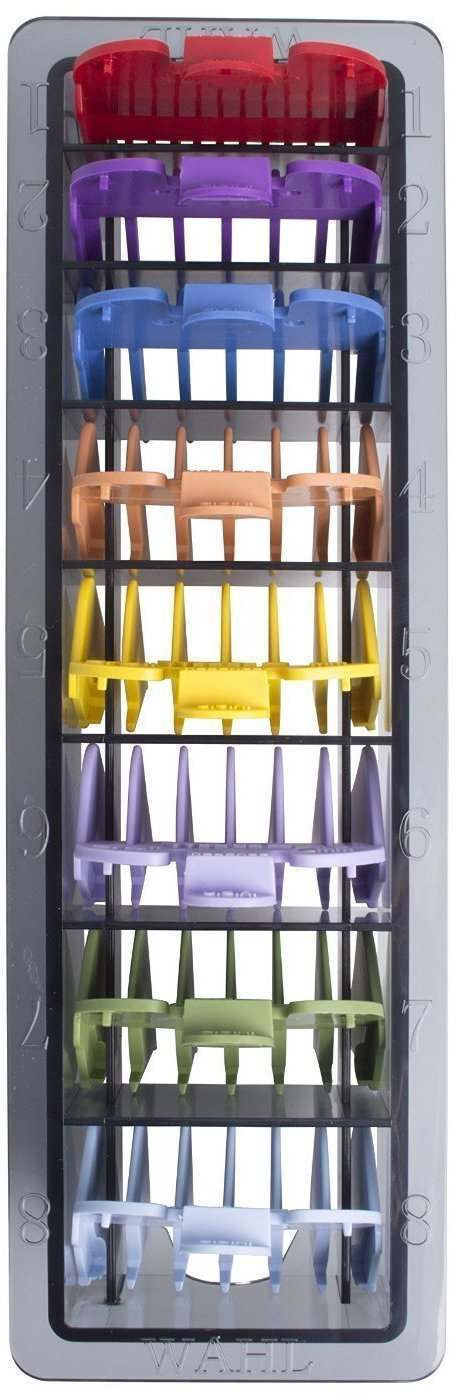 Wahl 3170-800 Number 1-8 Coloured Plastic Comb Set