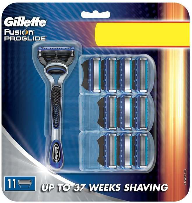 Gillette 81424148 Fusion ProGlide Manual Pack of 10 Blades with Razor