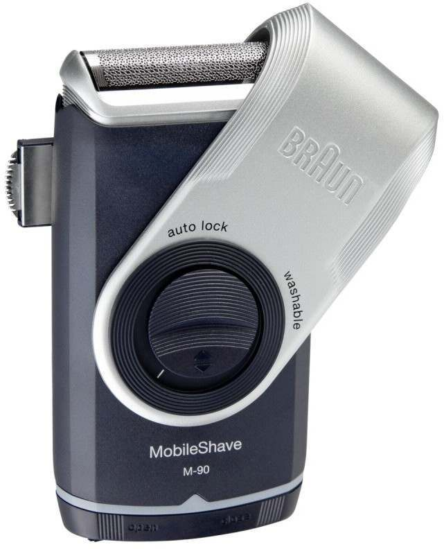 Braun M-90 Pocket Go With Trimmer Battery Men's Electric Shaver