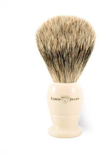 Edwin Jagger PPS-1EJ877 Imitation Ivory Best Badger Medium Shaving