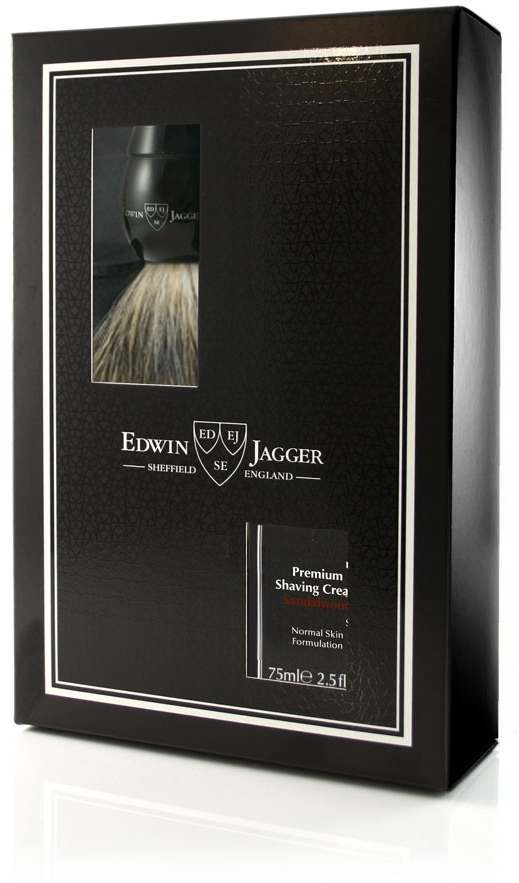 Edwin Jagger PPS-GS214SCSWT Sandalwood Ebony Brush & Shaving Cream