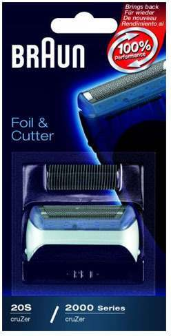 Braun 20B 2000 Series CruZer Black Foil & Cutter Pack