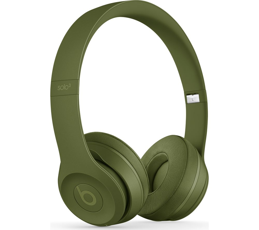 BEATS Solo 3 Neighbourhood Wireless Bluetooth Headphones - Turf Green, Green