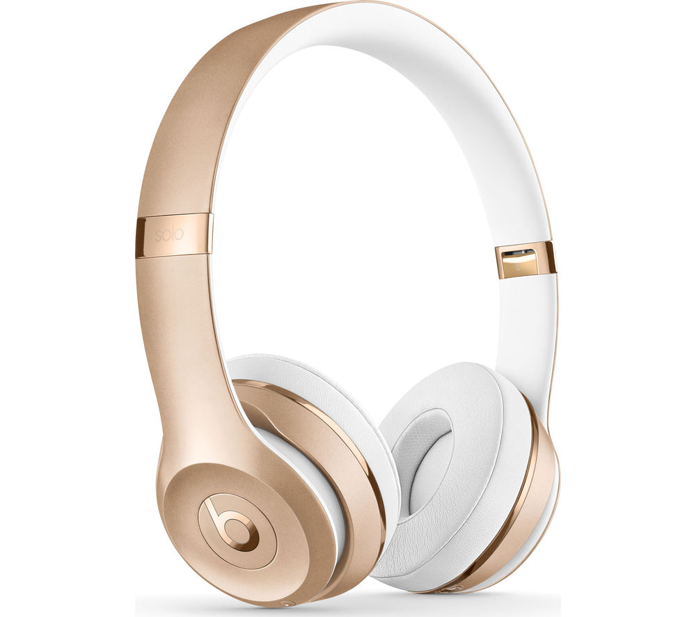 BEATS BY DR DRE Solo 3 Wireless Bluetooth Headphones - Gold, Gold