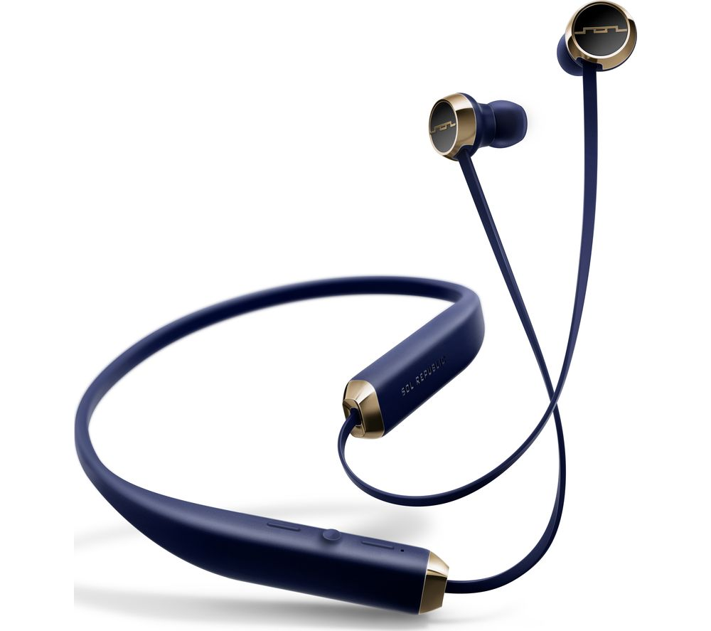 SOL REPUBLIC Shadow Wireless Bluetooth Headphones - Navy, Navy