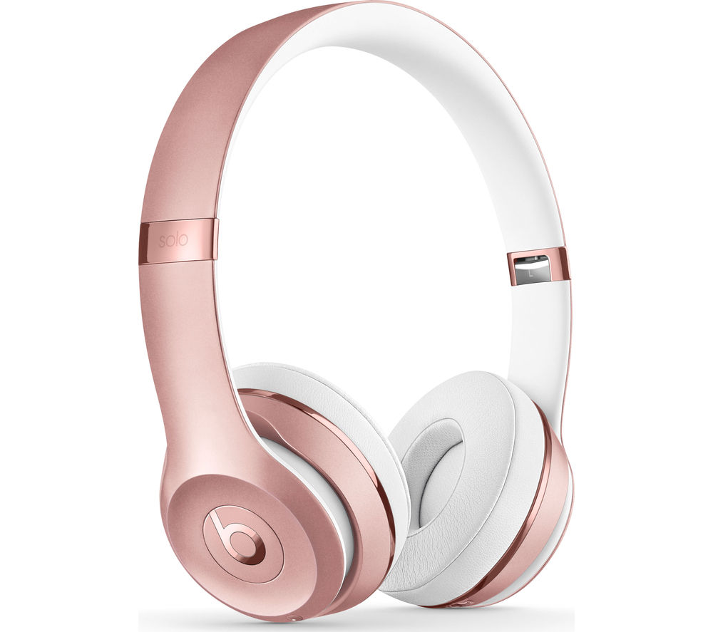 BEATS BY DR DRE Solo 3 Wireless Bluetooth Headphones - Rose Gold, Gold