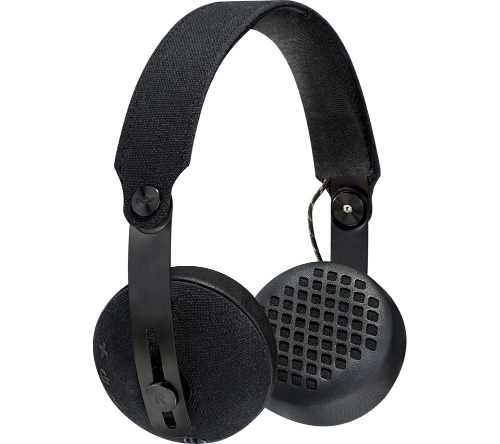 House Of Marley Rise BT Wireless Bluetooth Headphones - Black, Black