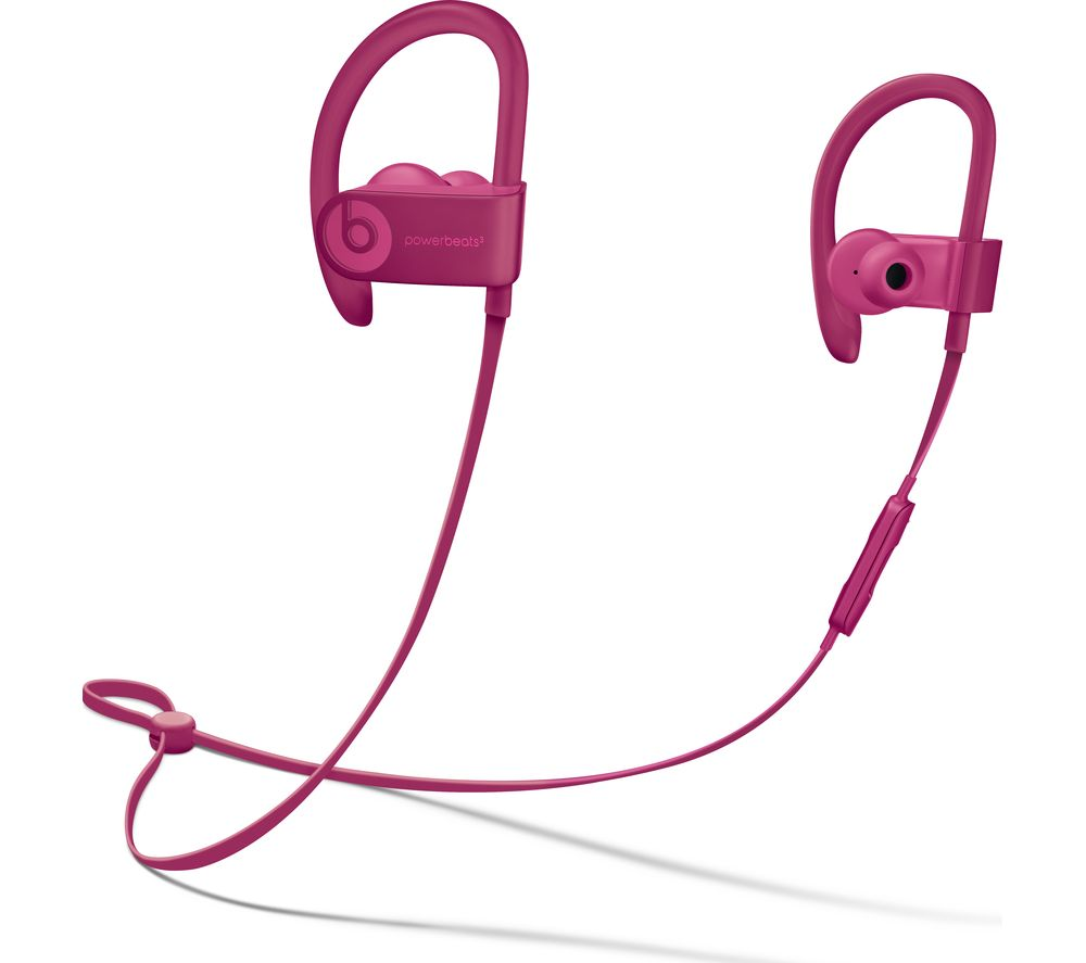 BEATS PowerBEATS3 Neighbourhood Wireless Bluetooth Headphones - Brick Red, Red